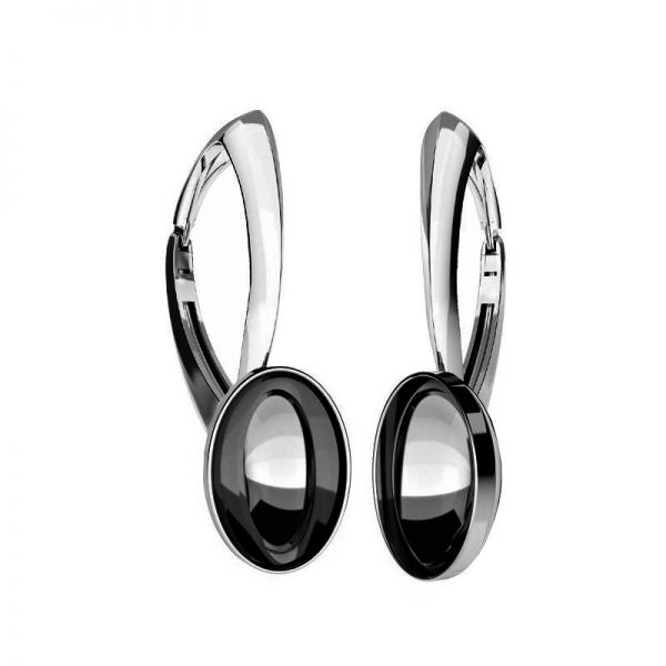 Sterling silver leverback earrings Swarovski base, OKSV 4120 MM  8,00 BA1