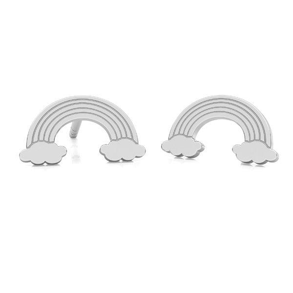 Rainbow earrings, sterling silver 925, LK-2261 KLS - 0,50