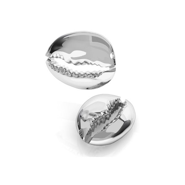 Shell bead, sterling silver 925, ODL-00534