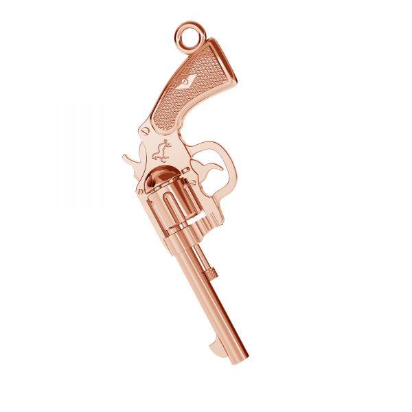 Rewolver, colt pendant, sterling silver, ODL-00565