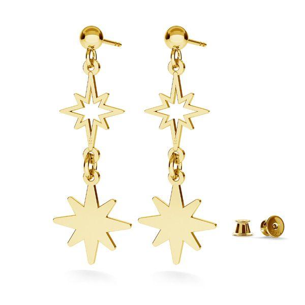 Star pendant, sterling silver, LKM-2252 - 0,50