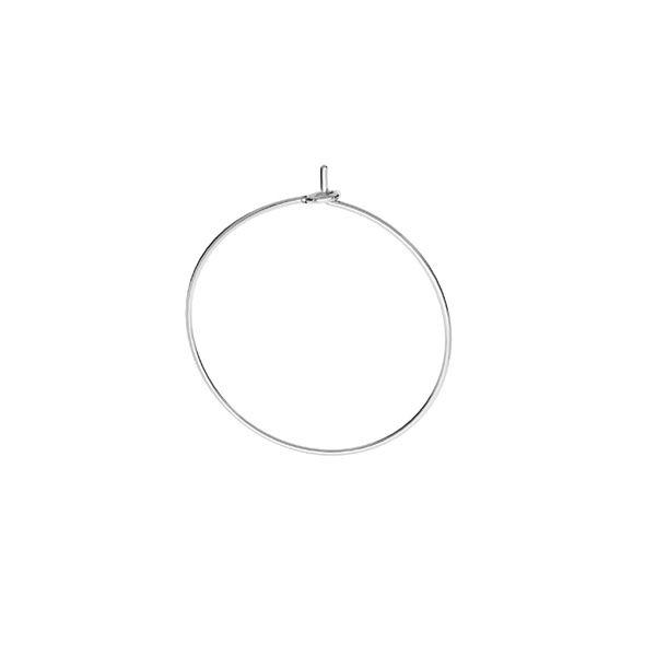 Round ear wire, sterling silver, BZ 13