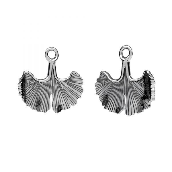 Twig, leaf pendant, sterling silver 925, ODL-00629