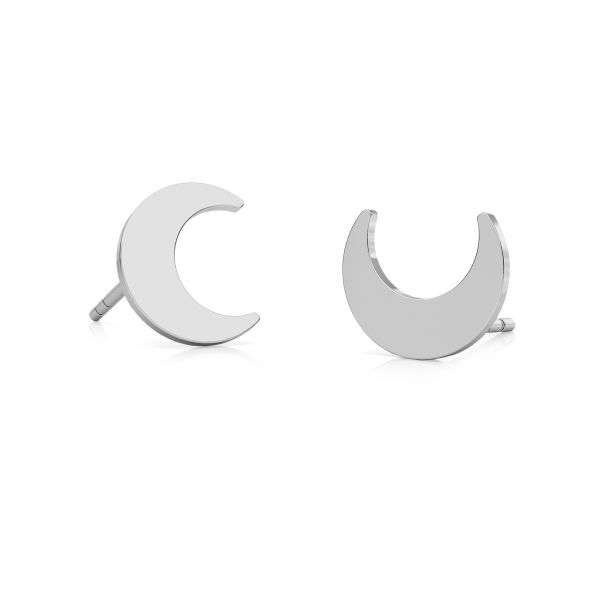 Moon earrings, sterling silver 925, LK-2241 KLS - 0,50