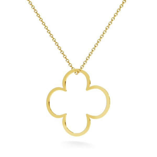Clover pendant, sterling silver 925, LKM-2290 - 0,50 35x35 mm