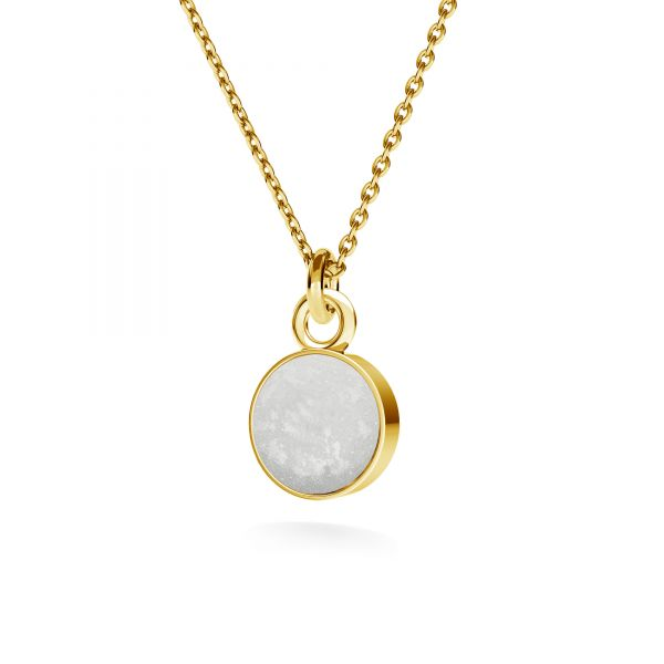 Round pendant for resin, sterling silver 925, FMG ROUND 14 MM CON 1 - 2,60 MM
