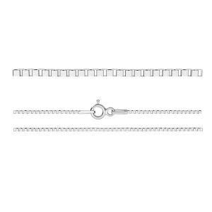KV 015 4L (60 cm), venetian box chain sterling silver