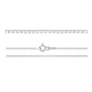 KV 015 4L (65 cm), venetian box chain sterling silver
