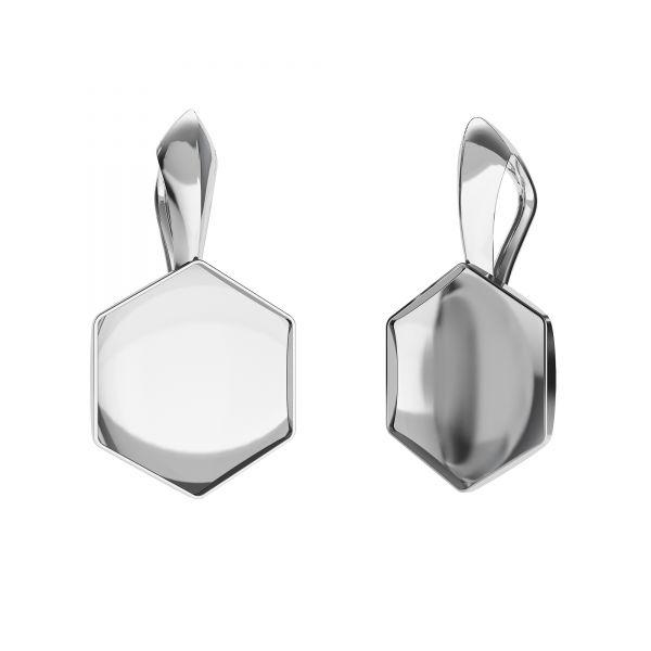 Pendant setting for Hexagon*sterling silver 925*OKSV 4683 10MM KRP