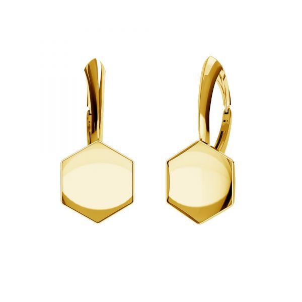 Openwork earrings setting for Hexagon*sterling silver 925*OKSV 4683 10MM BA SET-01