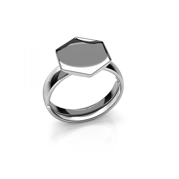 Universal ring for Hexagon*sterling silver 925*OKSV 4683 10MM U-RING