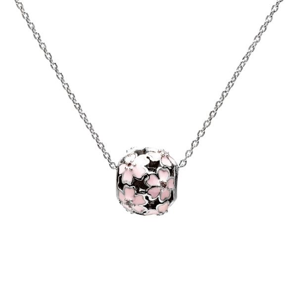 Flower bead, sterling silver 925, BDS-00001