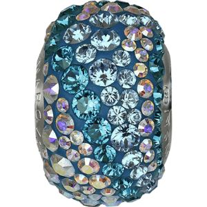 82033 BeCharmed Pavé Water Bead - Crystal, Aquamarine, Blue Zircon