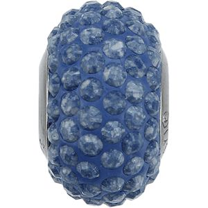 84501 BeCharmed Pavé Ceramics Bead - Marbled Blue