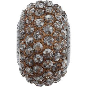 84501 BeCharmed Pavé Ceramics Bead - Marbled Terracotta