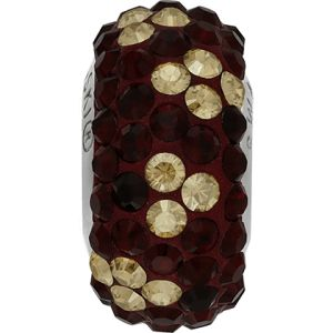 82072 BeCharmed Pavé Noel Bead - Crystal, Siam, Golden Shadow