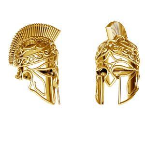 Spartan helmet pendant*sterling silver 925*ODL-00646