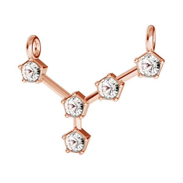 Cancer zodiac pendant with Swarovski Crystals*sterling silver 925*ODL-00651
