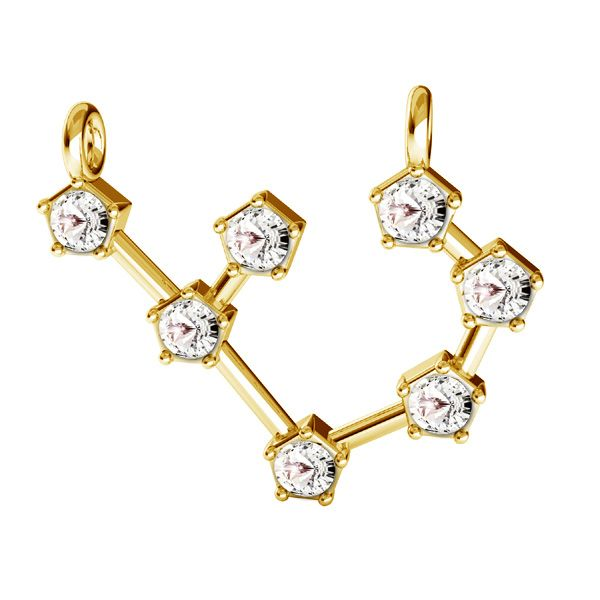 Sagittarius zodiac pendant with Swarovski Crystals*sterling silver 925*ODL-00657