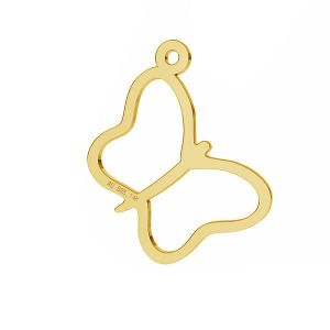 Double hearts pendant*gold AU 585*LKZ-50014 - 03
