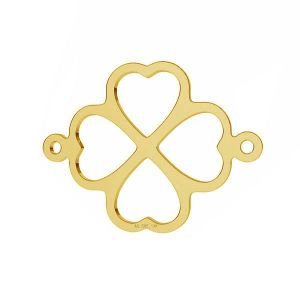 Clover pendant connector*gold AU 585 14K*LKZ-50012 - 03