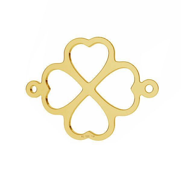Clover pendant connector*gold AU 585 14K*LKZ-50012 - 03