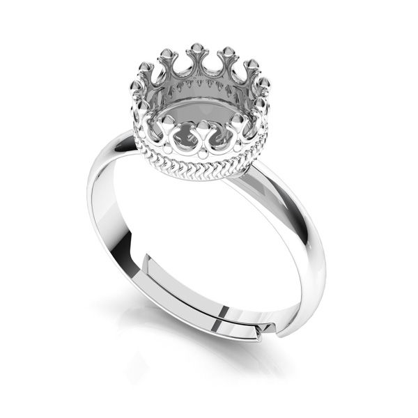 Round ring for resin, sterling silver 925, FMG 7 MM RING UNIVERSAL - 2,10 MM