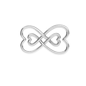 Infinity sign pendant, sterling silver 925, ODL-00674 11x20,5 mm