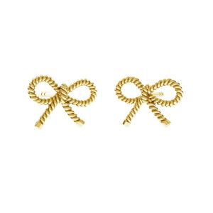 Bow  earrings*sterling silver 925*ODL-00676 KLS 7,8x10,8 mm