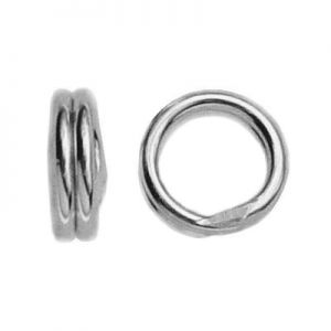 Double jump rings*sterling silver 925*OG 4 - 2,55x4 mm