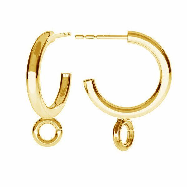 Semicircular earrings, sterling silver 925, KL-220 KP 20,5x21 mm