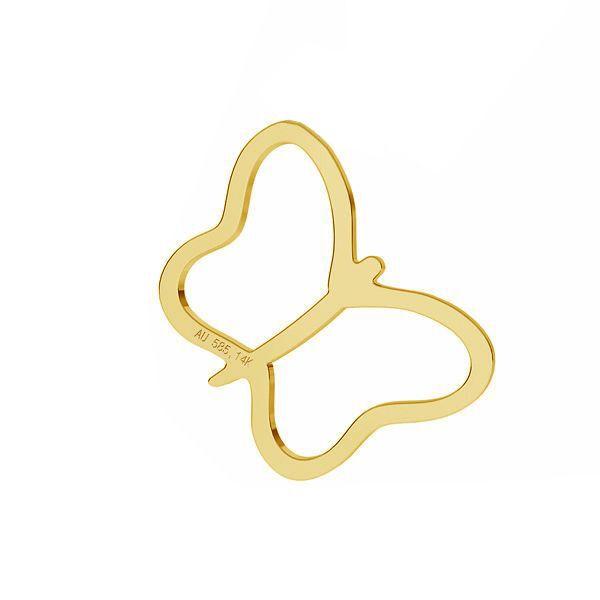 Butterfly pendant*gold AU 585 14K*LKZ-50015 - 03