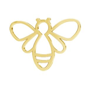 Bee pendant, sterling silver 925, LKM-2358 - 0,50 15x20,8 mm