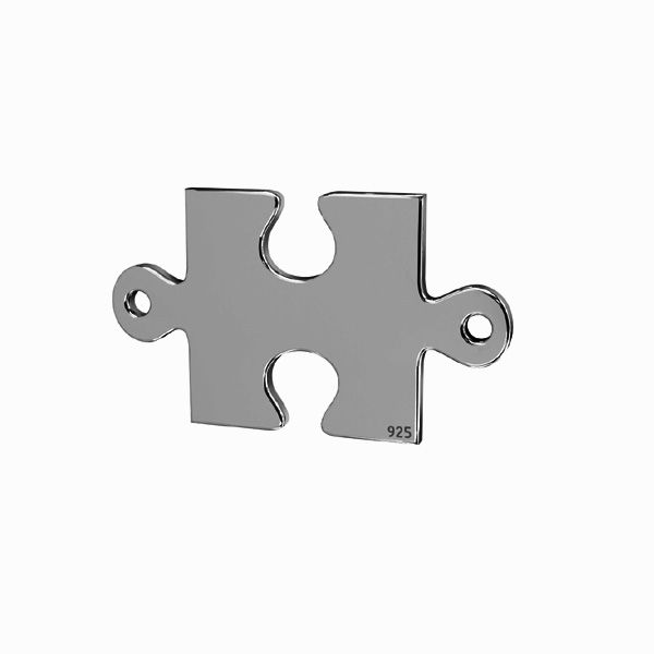 Puzzle pendant connector*sterling silver 925*LKM-2421 - 0,50 11,1x19 mm