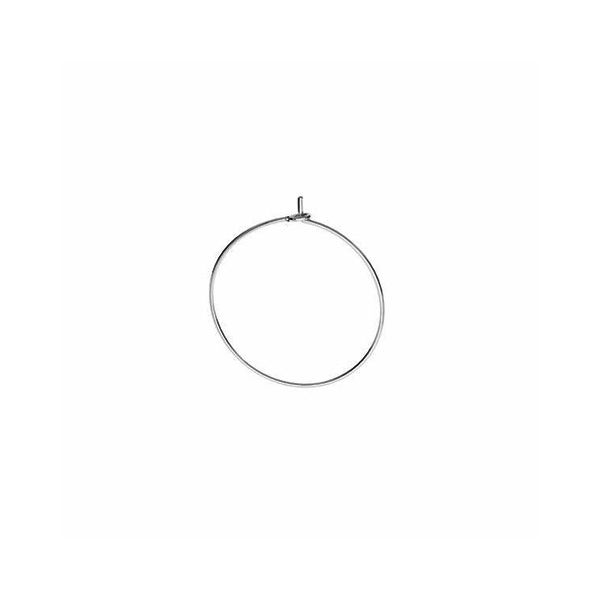 Round ear wire*sterling silver 925*BZ 16