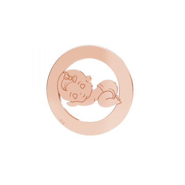 Child pendant - girl*sterling silver 925*LKM-2360 - 0,50 17,5 mm