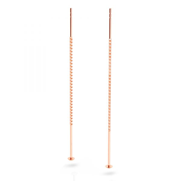 Cable box chain earring (base), sterling silver, KLA-40 55 mm (KV 015)