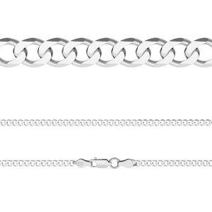 PD 100 6L (45-60 cm), Curb chain 0,3 cm, sterling silver 925