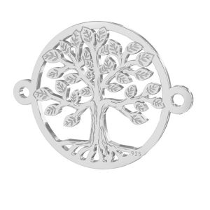 Tree of live pendant connector*sterling silver*LKM-2514 - 0,50 15x19,6 mm