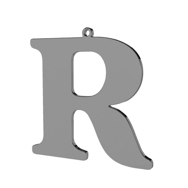 Pendant - big letter R*sterling silver 925*LKM-2505 - 0,60 38,4x38,7 mm