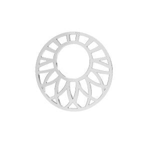Openwork pendant, sterling*silver 925*LKM-2289 - 0,50 20x20 mm