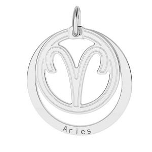 Aries zodiac pendant*sterling silver 925*LKM-2584 - 0,50 18x22 mm