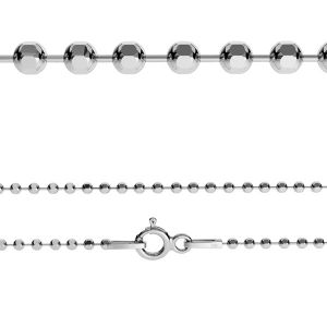 Ball chain*sterling silver 925*CPLD 1,0 (45 cm)