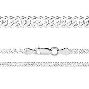 Rombo chain 0,6 cm*sterling silver 925*RD 100 6L (38 cm)