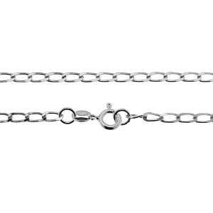 Curb chain 0,3 cm*sterling silver 925*PDD  70 40 cm