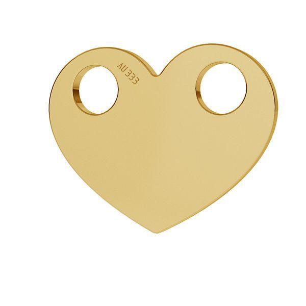 Heart pendant*gold 333*LKZ8K-30007 - 0,30 9,4x12 mm
