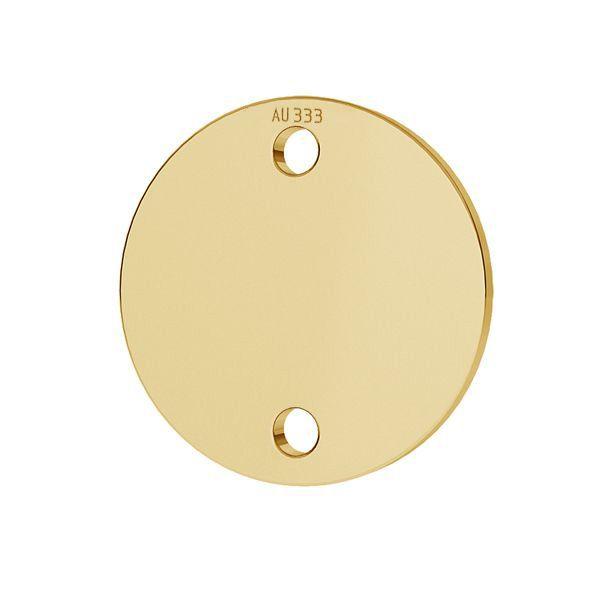 Round tag pendant*gold 585*LKZ8K-30014 - 0,30 10x10 mm