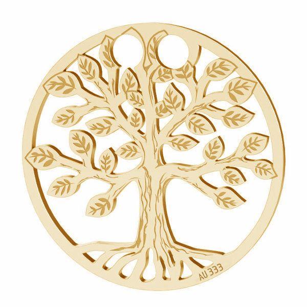 Tree of life pendant*gold 333*LKZ8K-30017 - 0,30 19x19 mm