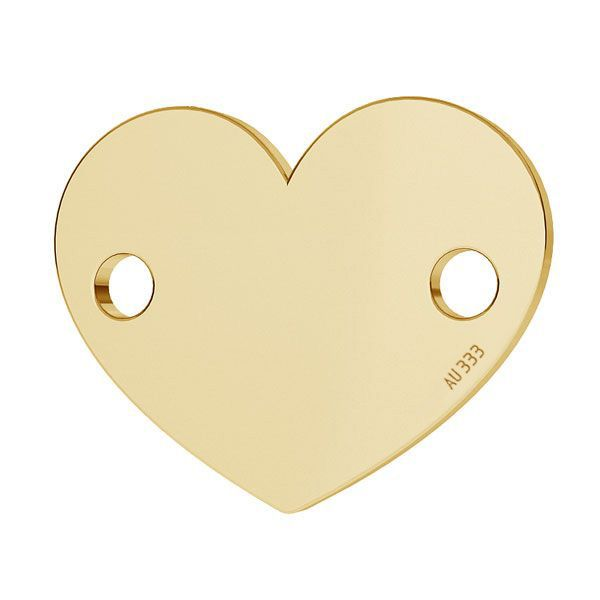 Heart tag pendant*gold 333*LKZ8K-30018 - 0,30 10x12 mm