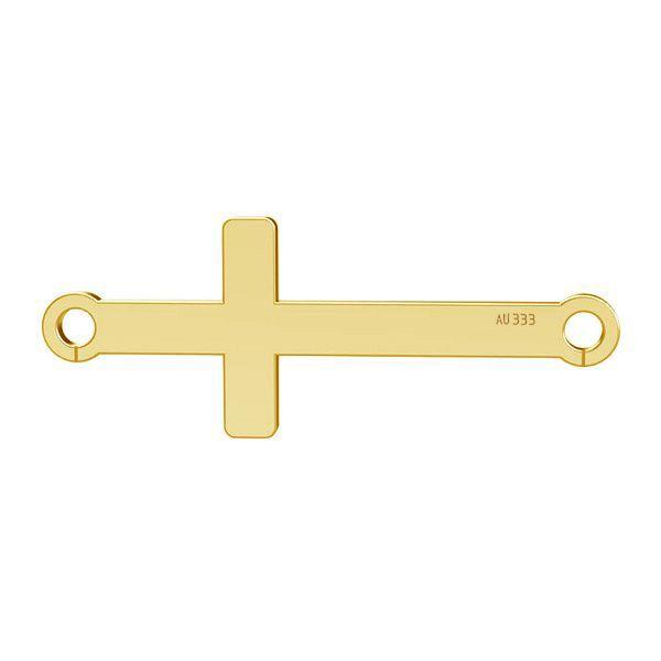 Horizontal cross pendant*gold 333*LKZ8K-30020 - 0,30 9x23 mm